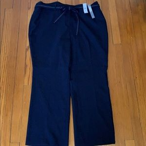 NWT Loft Navy Straight Leg with Tie Belt Trouser